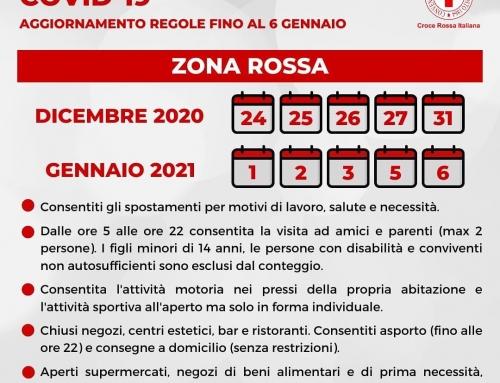 Aggiornamento delle regole per il contenimento del #Covid19 dal 24 Dicembre 2020…